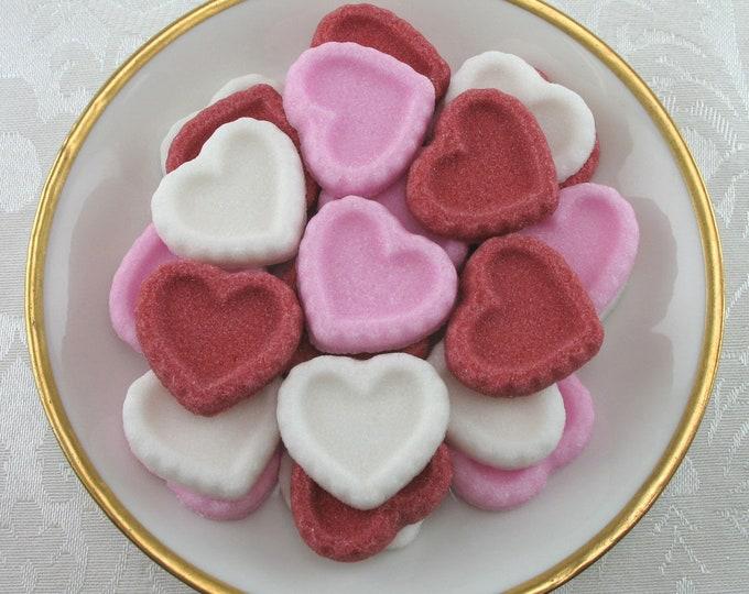 30 Heart Sugar Cubes in Valentine's Mix