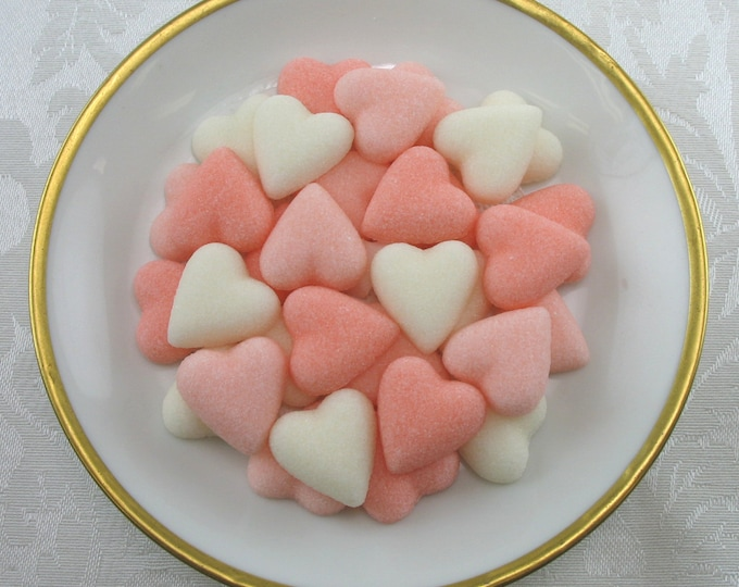 60 Peach Petite Heart Sugar Cubes