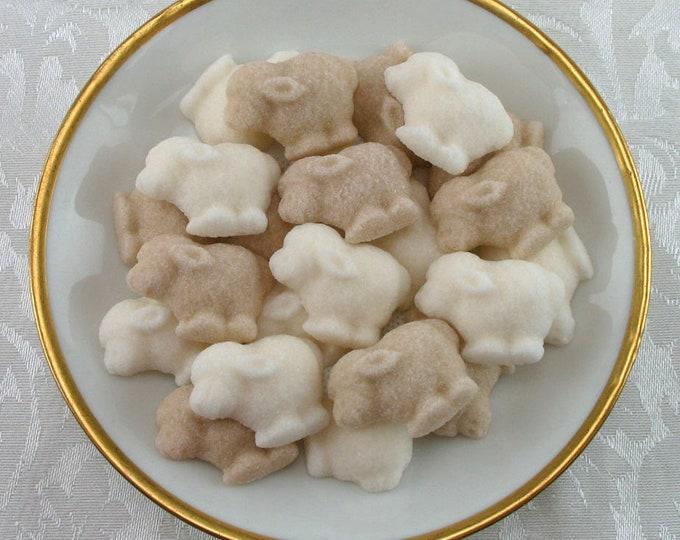 28 Little Lamb Gender Neutral Sugar Cubes for your Little Lamb Party