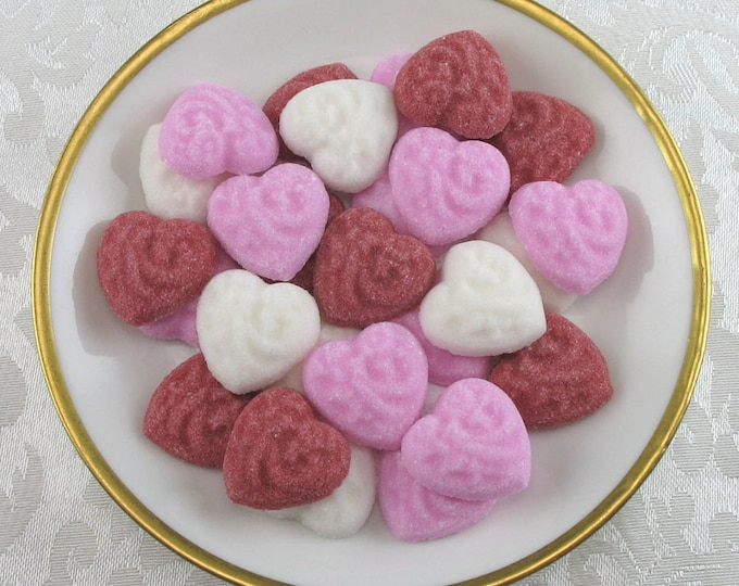 36 Embossed Heart Sugar Cubes in Valentine's Mix