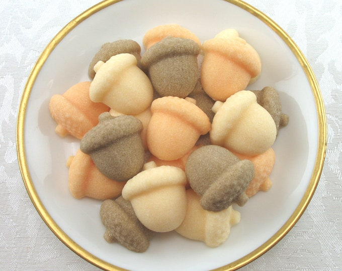 21 Acorn Shaped Sugar Cubes for Fall