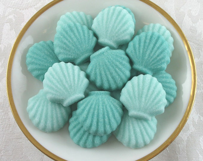 20 Scallop Seashell Sugar Cubes
