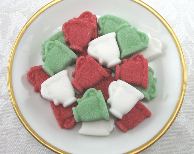 36 Christmas Tree Shaped Sugar Cubes in Christmas Traditional Mix