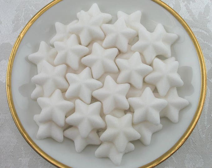 50 White Small Raised Star Sugar Cubes