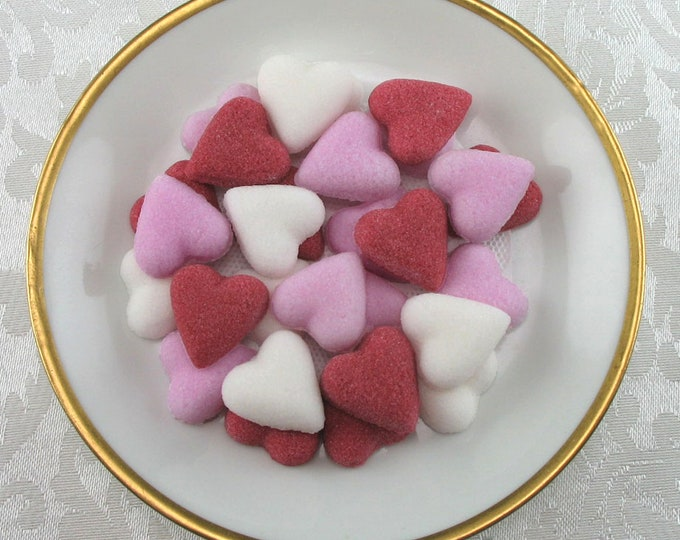 56 Petite Heart sugar cubes for Valentine's Day
