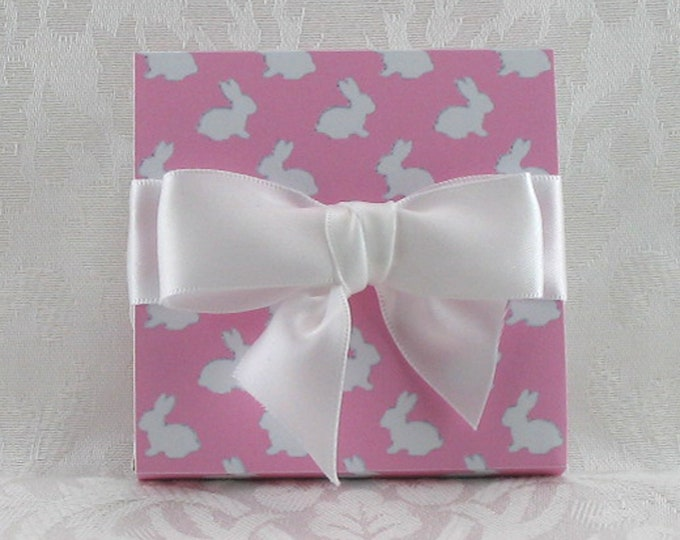 Pink Gift Boxed Bunny Sugar---Great hostess gift or gift for mom!