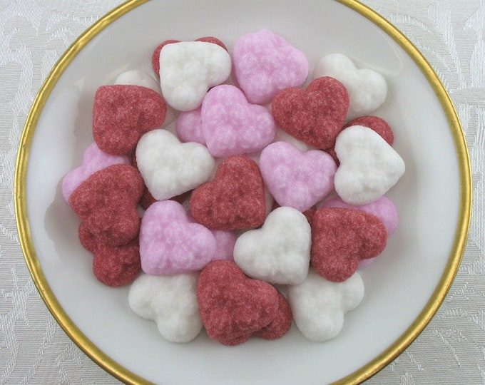 60 Ultra Thin Heart Sugar Cubes in Valentine's Mix