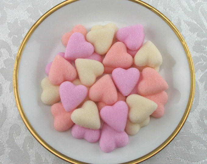 56 Petite Heart Sugar Cubes in Sweetheart Mix