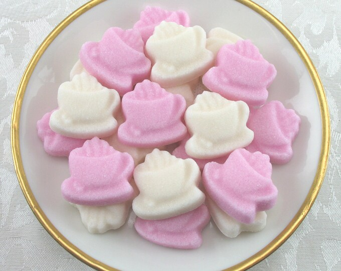 20 Pink & Ivory Coffee Cup Sugar Cubes