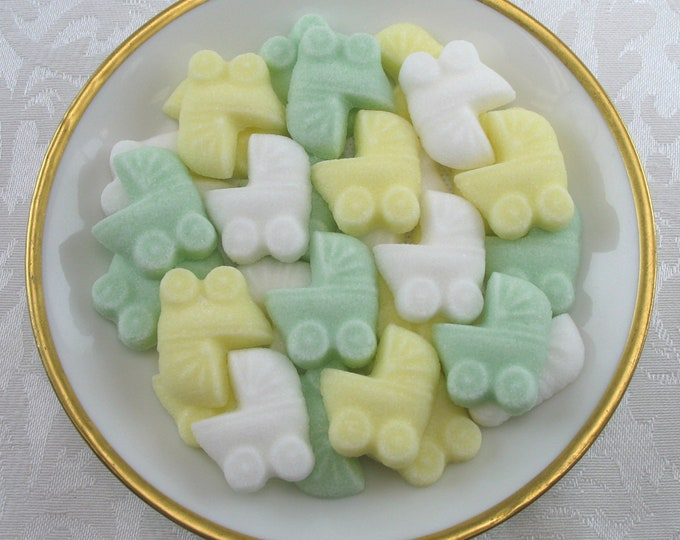 36 Gender Neutral Mini Baby Buggy Sugar Cubes