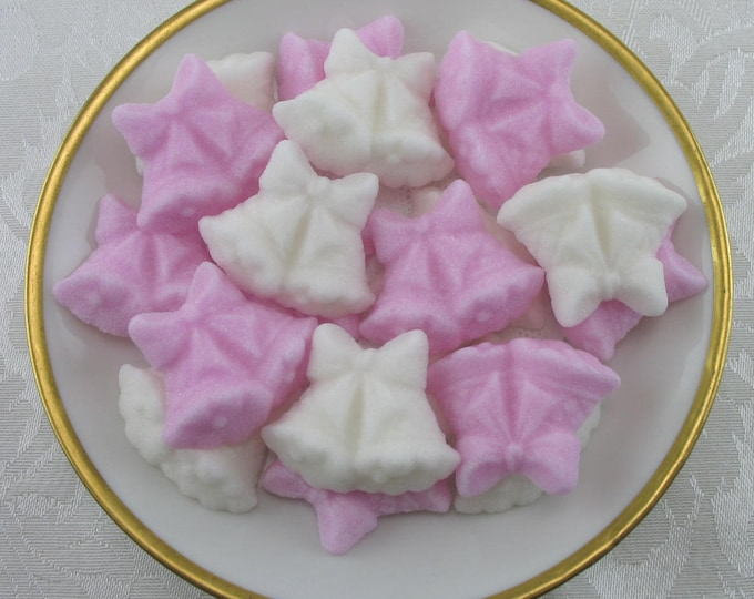 30 Pink & White Double Wedding Bell Sugar Cubes