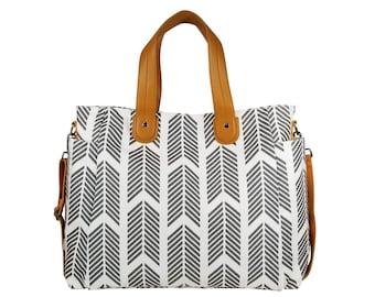 62bb36f05bf3 Gray Arrows Weekender Tote Bag