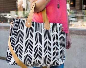 Black Arrows Weekender Tote Diaper Bag