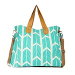Teal Arrows Weekender Tote Bag | Large Diaper Tote Bag | Nursing / Breast Pump Bag / Travel Tote / Teacher Bag