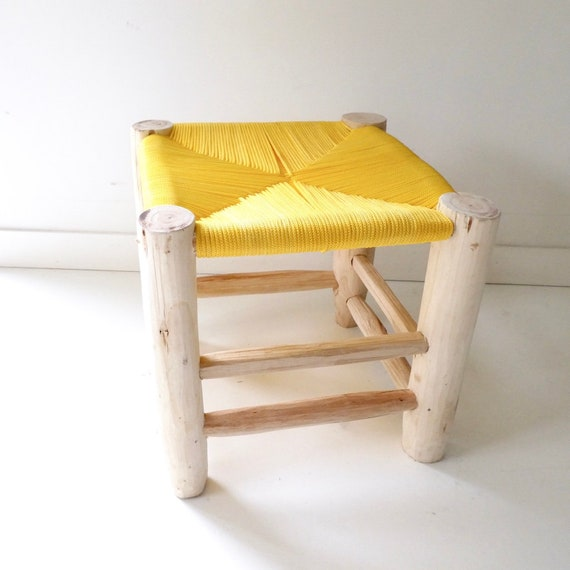 Groovy Wooden Child Stool And Mustard Yellow Seat Jacky And Family Pdpeps Interior Chair Design Pdpepsorg