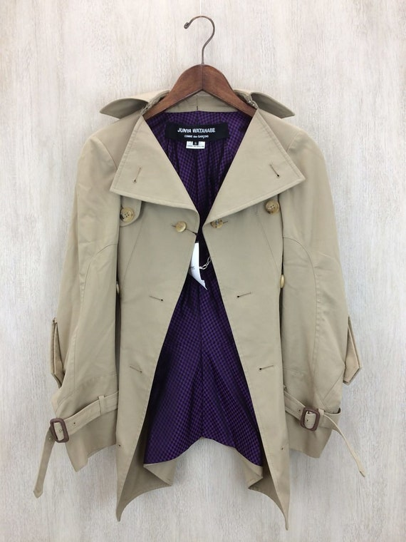 Garcons Coat Trench Des Junya Coat CheckTrench Tan Coat Watanabe Comme Coat Trench avaSRxq