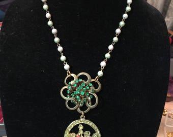 Repurposed Vintage Assemblege Necklace
