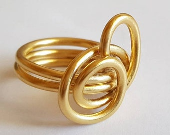 Spiral gold wire ring