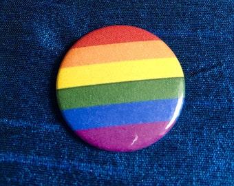 LGBT Rainbow Pride 25mm Pinbadge