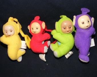 Set 4 Teletubbies toys, Teletubby Toys, Teletubby Figures, Teletubies, Teletubby, Teletubby Dolls, Tinky Winky toy, Vintage Teletubbies