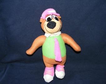 Yogi Bear Doll, Yogi Bear, Bear Doll, Stuffed Doll, Cartoon Doll, Vintage Doll, Vintage Bear Doll