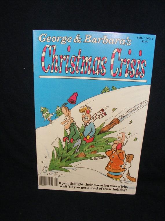 George H W Bush Barbara Bush Comic Bookchristmas Crisis Etsy