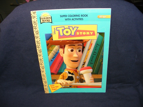 Toy Story Coloring Book Toy Story Buzz Lightyear Vintage Etsy