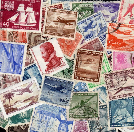 Chile Stamps 50 Diff Postage Chilean