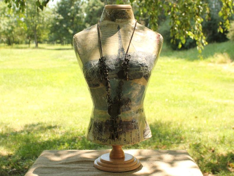 Mannequin bust torso dress form and Half dress form  paper mache decorative display jewelry stand jewelry display decorative dummy