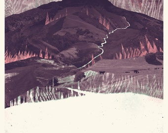 Mount Diablo Screenprinted Poster