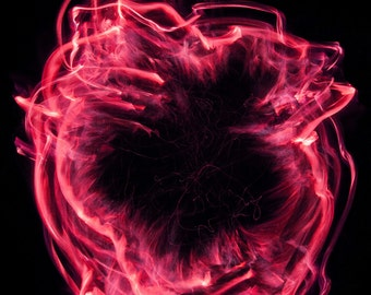 Red Rings of Fire - 17x22 Photograph