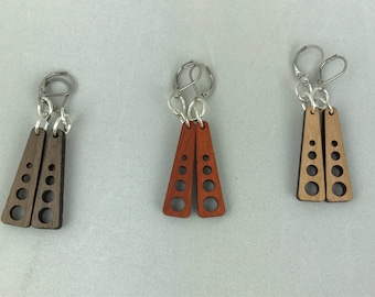4 Hole Wooden earrings