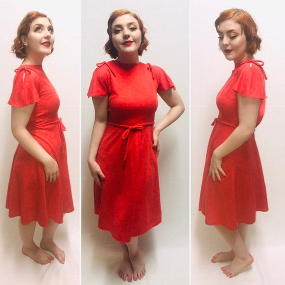 Vintage Red Dress Cute