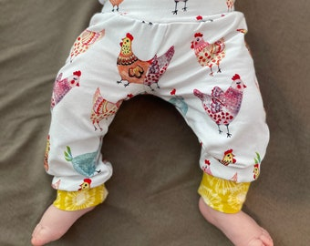 Baby Pants Elastic Waist Pants Chicken Leggings Baby Chicken Joggers Baby Leggings Cotton Pants