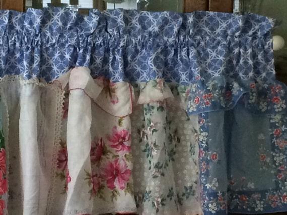 Taschentücher blau und Pink süß Fenster Volant | Etsy
