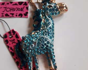 Key ring Friendship,for her purse clips Green Key chain handmade,ocean life SEAHORSE Removable dangles Betsey Johnson