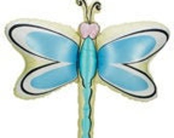 35 Pastel Dragonfly foil balloon Dragonflies garden party decoration