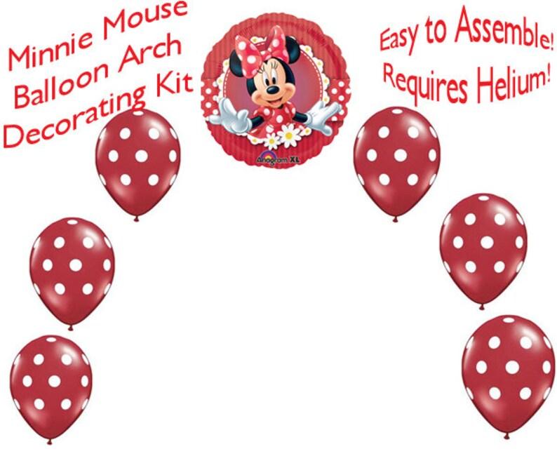 8f9be7ec8c90f Décoration de fête Minnie Mouse ballon arche bricolage Kit