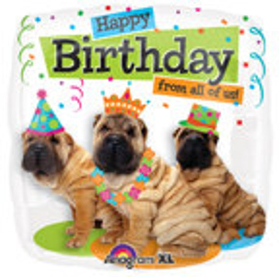18 Happy Birthday From All Of Us Foil Balloon Dog Party