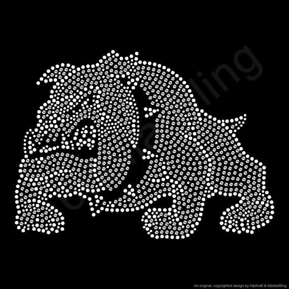 foto de Rhinestone Iron On Transfer Bulldog Logo Mascot Sports Bling   Etsy