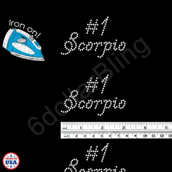 Scorpio Zodiac Bling Sequins No rhinestones transfer Iron On Hot fix applique