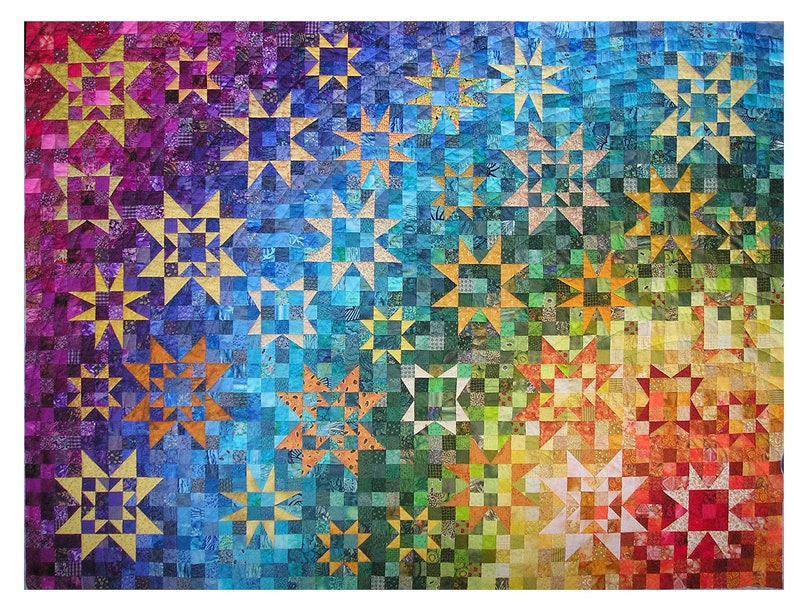 Pattern for the rainbow quilt image 0