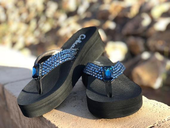 0e18eba5940438 Denim Blue Swarovski Crystal Rockstars