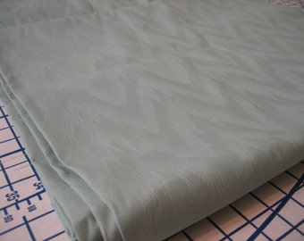 """5 Yds + 32"""" @ 48"""" wide Cotton damask  upholstery weight, moire pattern mint green with a subtle sheen. # 2"""