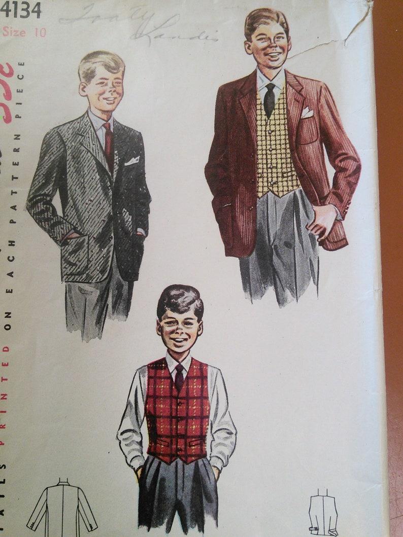Années 1940 Homme Flanelle Pantalon vintage sewing pattern-Taille 36