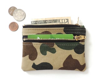 Camo zipper wallet | Etsy