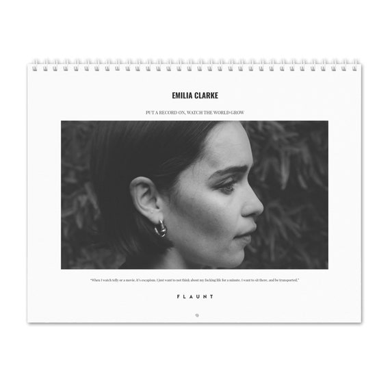 February 5th 2020 Calendar Emilia Clarke Vol.5 2020 Wall Calendar | Etsy