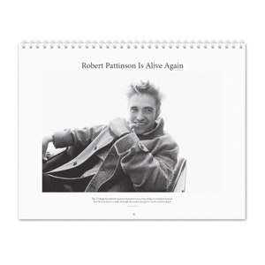 Robert Pattinson 2021 Wall Holiday Calendar Keyring
