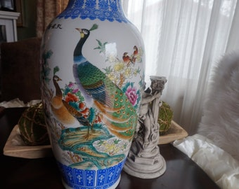 Large chinese vase | Etsy on large vases, asian paintings, oriental style vases, asian bamboo, japanese tall vases, tall clay vases, big decorative vases, oversized vases, asian bowls, vintage glass vases, asian clothing, asian clocks, asian floor beds, asian mirrors, asian lamps, oriental porcelain vases,