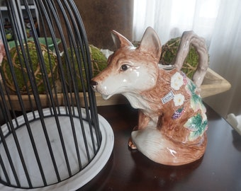 Vintage, Fitz and Floyd Ceramic Fox Pitcher